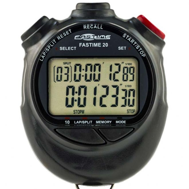 Saturn Stopwatches - 10 Lap Memory - Dual Display - Fastime 20 Stopwatch